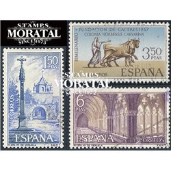 1967 Spanien 1728/1730  Veruela Kloster-Tourismus © Gebrauchte, Zustand  (Michel)