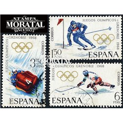 1968 Spain 1509/1511  J.J.O.O. Grenoble Sport © Used, Nice  (Scott)