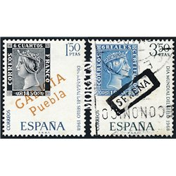 1968 Spain 1527/1528  Day of the stamp Philately © Used, Nice  (Scott)