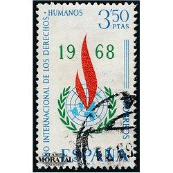 1968 Spanien 1763 Menschenrechte Amtlichen Stellen © Gebrauchte, Zustand  (Michel)