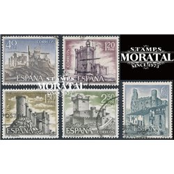 1968 Spain 1538/1542  Castles III Castles © Used, Nice  (Scott)