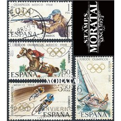 1968 Spain 1543/1546  J.J.O.O. Mexico Sport © Used, Nice  (Scott)