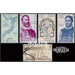 1968 Spain 1547/1551  Discoverers Personalities © Used, Nice  (Scott)