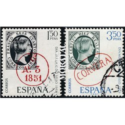 1969 Spain 1568/1569  Day of the stamp Philately © Used, Nice  (Scott)