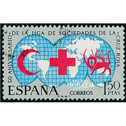 1969 Spain 1571 Red Cross Charity © Used, Nice  (Scott)