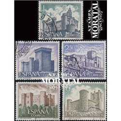 1969 Spain 1573/1577  Castles IV Castles © Used, Nice  (Scott)