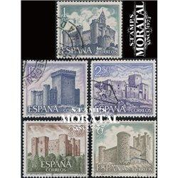 1969 Spanien 1816/1820  Kastell Schlösser © Gebrauchte, Zustand  (Michel)