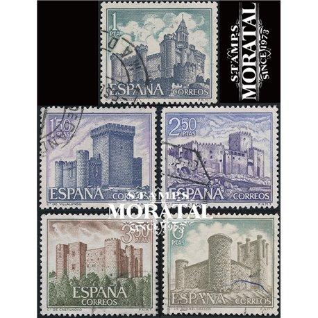 1969 Spain 1573/1577  Castles IV Castles © Used, Nice  (Scott)