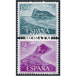 1969 Spain 1579/1580  Gibraltar  © Used, Nice  (Scott)