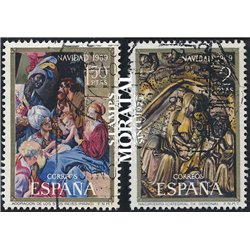 1969 Spain 1590/1591  Christmas Christmas © Used, Nice  (Scott)