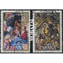 1969 Spanien 1837/1838  Weihnachten Weihnachten © Gebrauchte, Zustand  (Michel)
