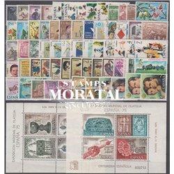 [20] 1975 Spanien Jahrgang komplett Postfrisch **MNH LUXUS   + 2 Block Briefmarken in perfektem Zustand. LUXURY