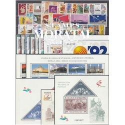 [20] 1992 Espagne Année Complete Neuf Sans Charniere LUXE   + 13 BF Timbres d'un très bon état. LUXE.