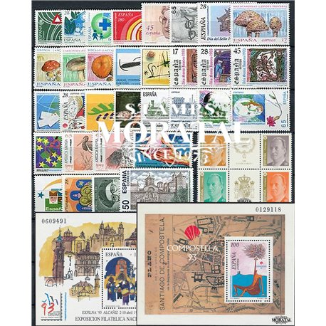 [20] 1993 Spain Year Set Complete **MNH LUXURY   + 2 Sheets Stamps in Perfect Condition. LUXE