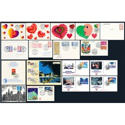 [04]  France Lot 16 First Day Cover and First Day Cards