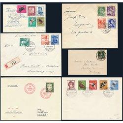 [04]  Switzerland Pro Juventud 6 precious envelopes. High catalog value Zumstein
