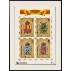 [05] 1983 Spain Aragon Heraldry Shields   ALAGON, PERACENSE, PERTUSA, MONTORO DEL MEZQUITA