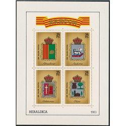 [05] 1983 Spain Aragon Heraldry Shields   ALMUDEVAR, ANDORRA, CALATORAO, OLIETE