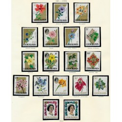 [10] 1964 China 767/781 Peony Flowers ** MNH Very Nice Stamps in Perfect Condition. (Scott)