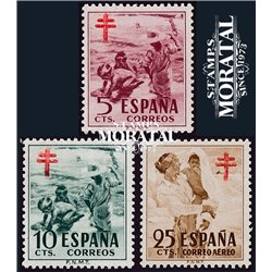 1951 Espagne 824/249  Pro tuberculose Bienfaisance **MNH TTB Très Beau  (Yvert&Tellier)