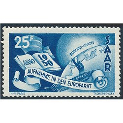 [10] 1950 Saar / Sarre 266 Book, Earth  ** MNH Very Nice Stamps in Perfect Condition. (Scott)