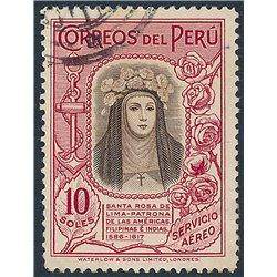 [10] 1936 Peru C39 St. Rose of Lima. Key value  © Used, Nice Stamps in Perfect Condition. (Scott)