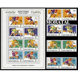 [10] 1982 Aitutaki. Cook Islans 250/253, B38 Soccer. FIFA World Cup  ** MNH Very Nice Stamps in Perfect Condition. (Scott)