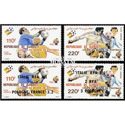 [10] 1982 Djibouti C153/C154 C166/C167 Soccer. FIFA World Cup  ** MNH Very Nice Stamps in Perfect Condition. (Scott)