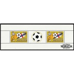 [10] 1982 Netherlands Antilles 198a Soccer. FIFA World Cup  ** MNH Very Nice Stamps in Perfect Condition. (Scott)