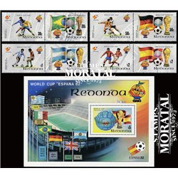 [10] 1982 Redonda  Soccer. FIFA World Cup  ** MNH Very Nice Stamps in Perfect Condition. (Scott)