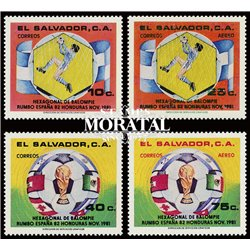 [10] 1982 El Salvador 939/940, C505/506 Soccer. FIFA World Cup  ** MNH Very Nice Stamps in Perfect Condition. (Scott)