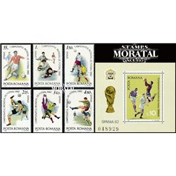 [10] 1982 Romania 3042/3048 Soccer. FIFA World Cup  ** MNH Very Nice Stamps in Perfect Condition. (Scott)