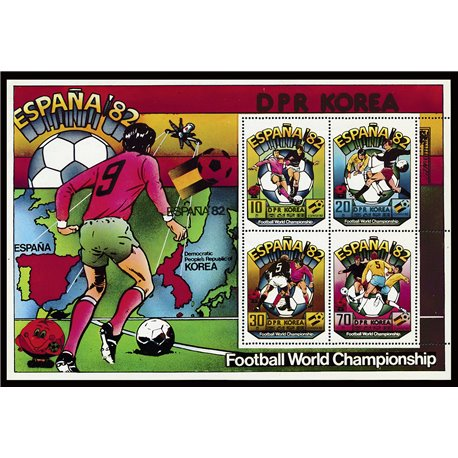 [10] 1981 Korea DPR 2025a Soccer. FIFA World Cup  ** MNH Very Nice Stamps in Perfect Condition. (Scott)