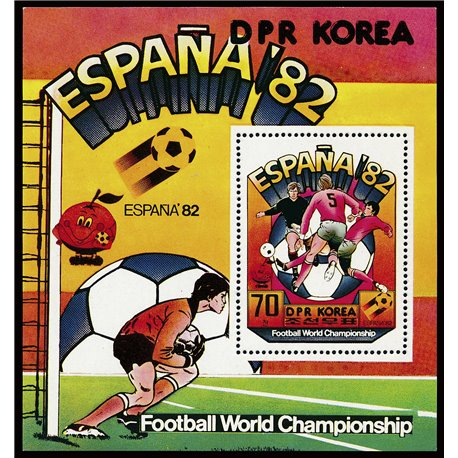 [10] 1981 Korea DPR 2026 Soccer. FIFA World Cup  ** MNH Very Nice Stamps in Perfect Condition. (Scott)