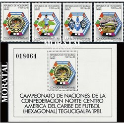 [10] 1982 Honduras 703/C706, C707 Soccer. Noth Cup  ** MNH Very Nice Stamps in Perfect Condition. (Scott)