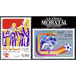 [10] 1982 Argelia 681/682 Soccer. FIFA World Cup  ** MNH Very Nice Stamps in Perfect Condition. (Scott)