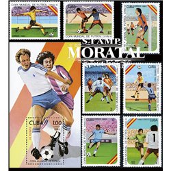 [10] 1982 Cuba 2469/2475, 2476 Soccer. FIFA World Cup  ** MNH Very Nice Stamps in Perfect Condition. (Scott)