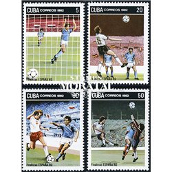 [10] 1982 Cuba 2536/2539 Soccer. Italy  ** MNH Very Nice Stamps in Perfect Condition. (Scott)