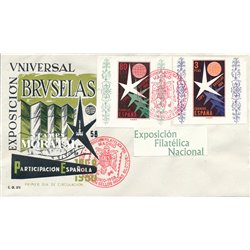 1958 Spain  Sc 877a/878a Sheets Brussels Europe   (Scott)