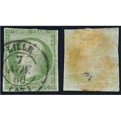 1854 France  Sc# 13  (o) Used, Nice. Emperor Napoleon III 5c. (Scott)