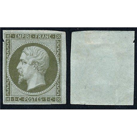 1860 France  Sc# 12  (o) Used, Nice. Emperor Napoleon III 1c. (Scott)
