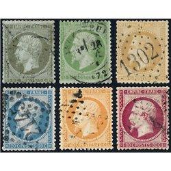 1862 Francia Yv 19/24 Napoleon III (Completa)  (o) Usado, Buen Estado  (Yvert&Tellier)