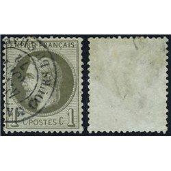 1863 Francia Yv 25 Napoleon III Laureado 1c.  (o) Usado, Buen Estado  (Yvert&Tellier)