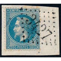 1867 Frankreich Mi# 0  (o) Gebrauchte, Zustand. Napoleon III  20c. (Michel)