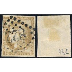 1870 France  Sc# 42  (o) Used, Nice. Ceres (Bourdeaux) 10c. (Scott)