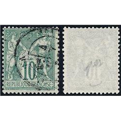 1876 France  Sc# 68  (o) Used, Nice. Sage 10c. (Scott)