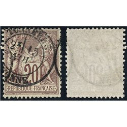 1876 France  Sc# 70  (o) Used, Nice. Sage 20c. (Scott)