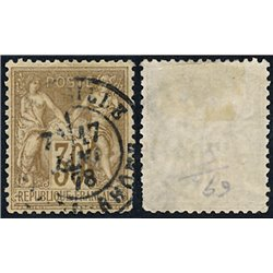 1876 France  Sc# 73  (o) Used, Nice. Sage 30c. (Scott)