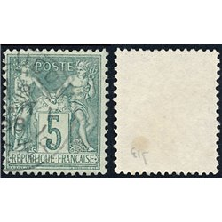 1876 France  Sc# 78  (o) Used, Nice. Sage 5c. (Scott)