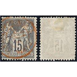 1876 France  Sc# 80  (o) Used, Nice. Sage 15c. (Scott)
